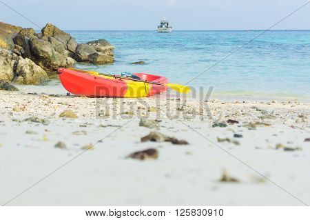 Colorful Kyak Boat On Beach