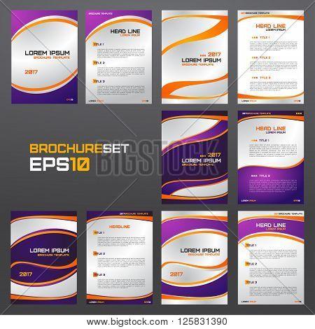 Set of brochure template flyers leaflets letters advertisements banners presentations etc.