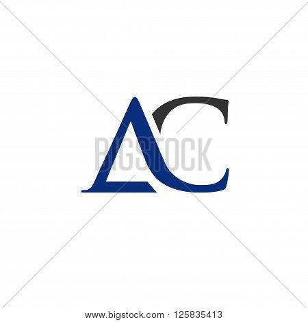 elegant and classy AC letter logo vector