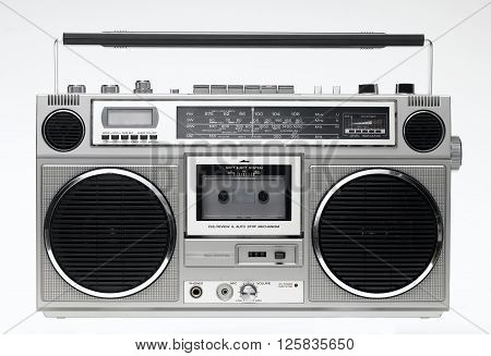 GhettoBlaster straight on isolated on a white background