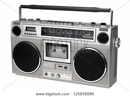 GhettoBlaster looking Left isolated on a white background