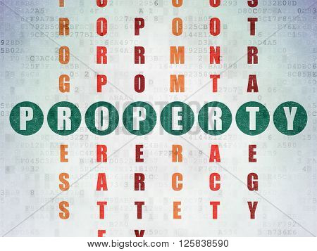 Business concept: Property in Crossword Puzzle