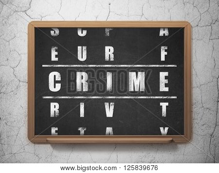 Privacy concept: Crime in Crossword Puzzle