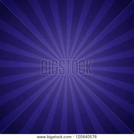 Sunburst Retro blue in vintage style. Vector illustration