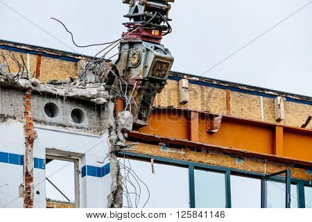 demolition of an office building