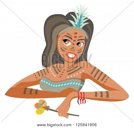 Traditional painted woman