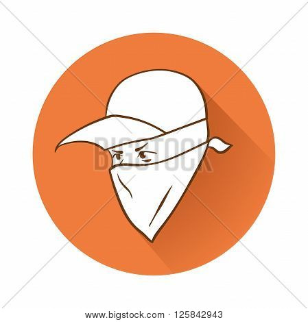 This is an illustration of Protester's face symbol