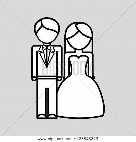 wedding concept with icon design, vector illustration 10 eps graphic.