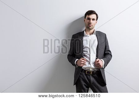 Businessperson Empty Wall