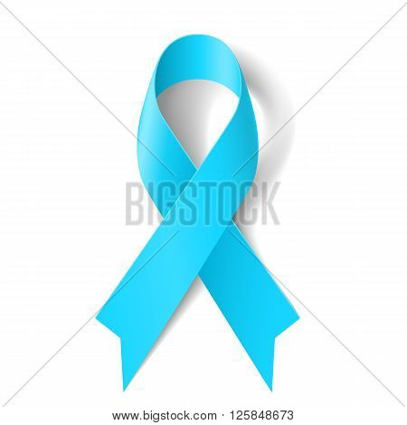 Light blue ribbon as symbol of prostate cancer awareness Graves Disease