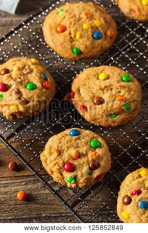 Homemade Candy Coated Chocolate Chip Cookies