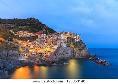 Manarola is a small town in the province of La Spezia, Liguria, northern Italy. It is the second smallest of the famous Cinque Terre towns frequented by tourists.