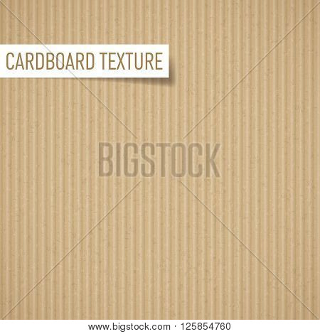 Illustration of realistic carton texture. Seamless cardboard pattern