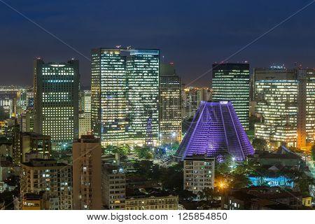 Panorama View Of Rio De Janeiro Downtown