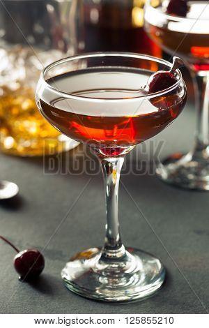 Homemade Rye Bourbon Manhattan