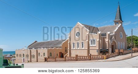 PORT ELIZABETH SOUTH AFRICA - FEBRUARY 27 2016: The Dutch Reformed Church Port Elizabeth in North End was inaugurated on 31 Desember 1909