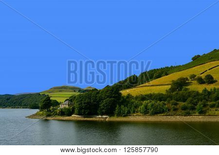 A view of Ladybower reservoir in Derbyshire England UK