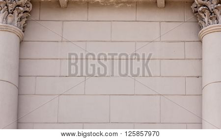 architecture building element, background with classical columns
