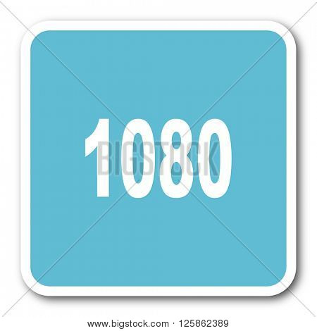 1080 blue square internet flat design icon