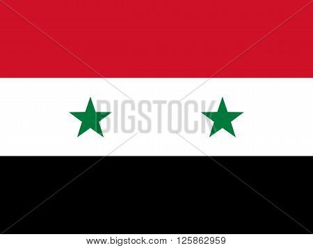 Official national flag of Syria vector illustration