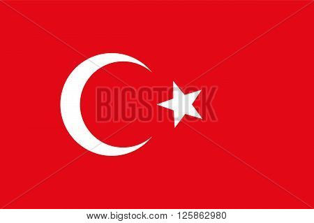 Official national flag of Turkey vector illustration