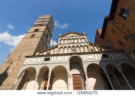 The Cathedral of San Zeno (St. Zeno) X century in Piazza Duomo (Cathedral square). Pistoia Tuscany Italy