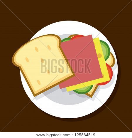 Sandwich concept with icon design, vector illustration 10 eps graphic.
