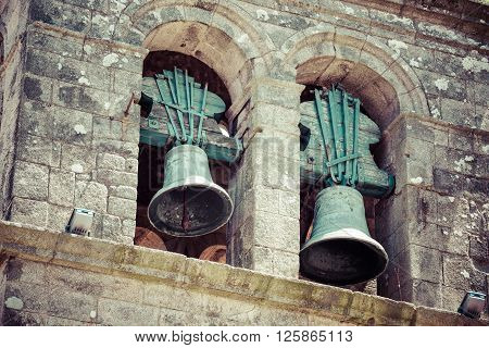 Architecture bells in Portugal Two bells in a church Europe .