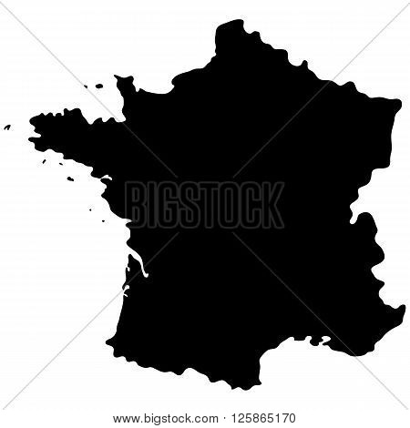 Map of France on white background vector illustration