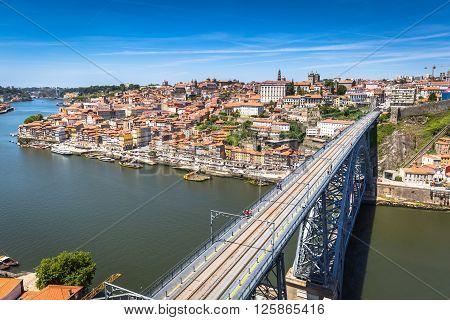 bridge Dom Louis Porto Portugal Europe .