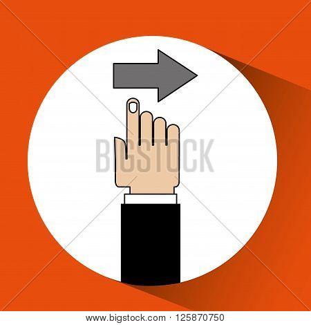 arrow index design, vector illustration eps10 graphic
