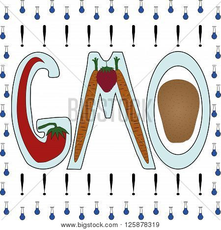 The emblem of the dangers of GMO products