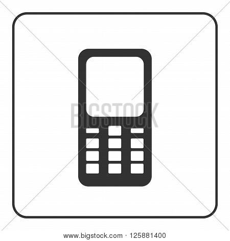 Phone mobile icon. Smartphone device sign isolated on white background. Flat modern design. Symbol of cell call cellphone web electronic and technology communication business. Vector illustration