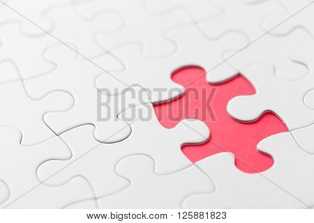 Puzzle with miss part