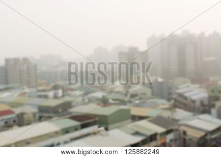 air pollution background with abstract city landscape