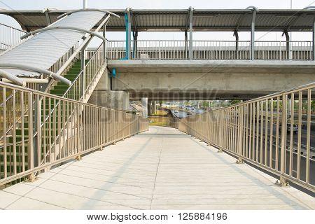 Walking overpass bridge walk background and wallpaper