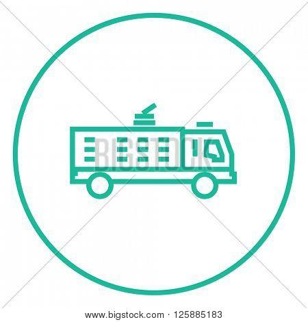 Fire truck line icon.