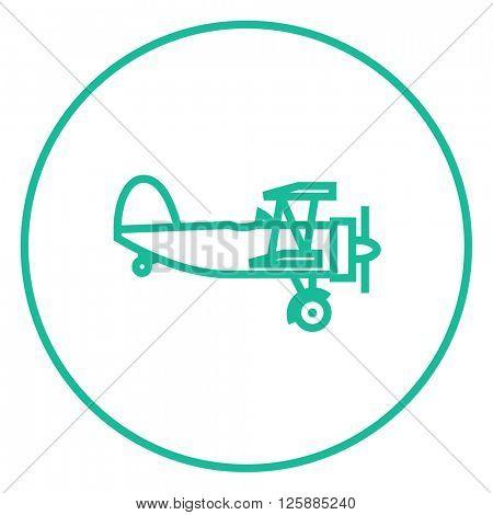 Propeller plane line icon.