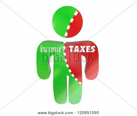 Income Taxes Earnings Money Reduced Cut Share Person Words