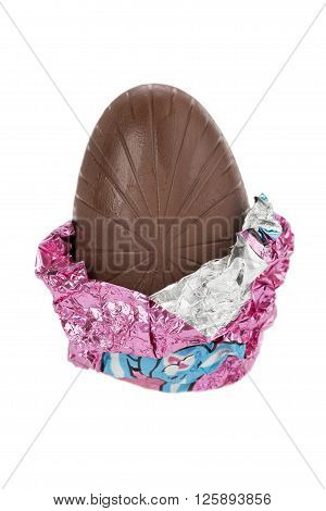 Close Up Image Of Easter Egg Chocolate