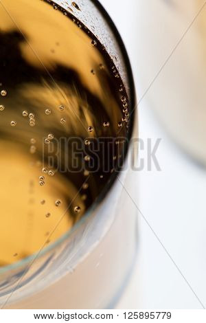 Cropped Image Of A Glass Filled With Champagne