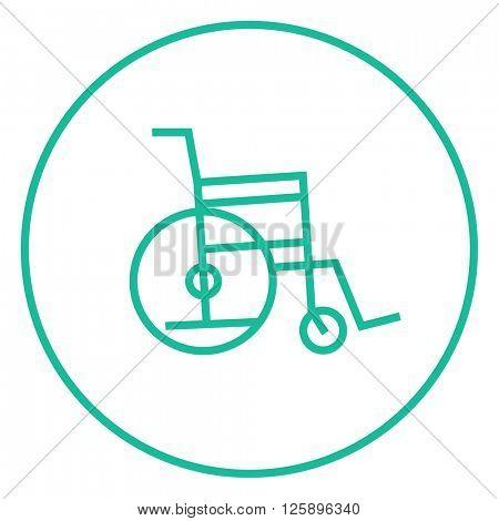 Wheelchair line icon.