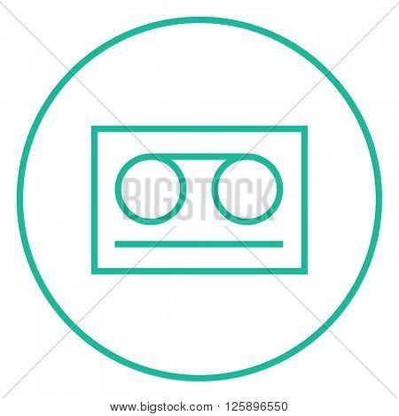 Cassette tape line icon.