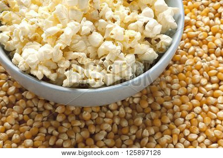 Dried Corn Beans And Pop Corn Bowl