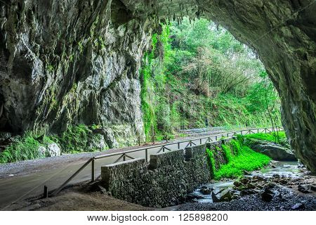 Through this cave is the only access to the village of Cuevas del Agua Asturias I