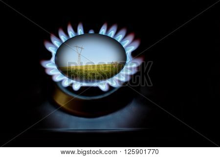 Gas and electricity for protection of enviroment