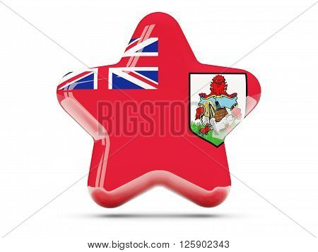 Star Icon With Flag Of Bermuda