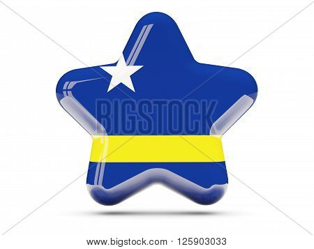 Star Icon With Flag Of Curacao