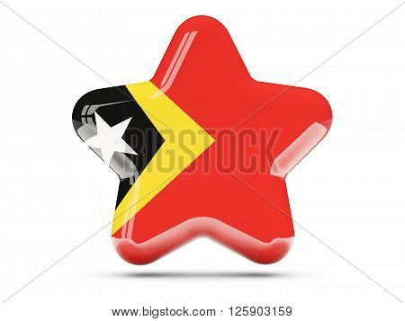 Star Icon With Flag Of East Timor