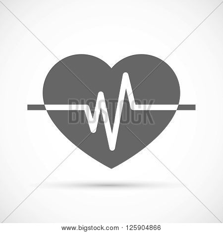 Heart beat Icon. Heart rate, cardiogram illustration